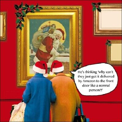 Get It Delivered By Amazon Irene & Gladys Christmas Card Funny Xmas Cards ()
