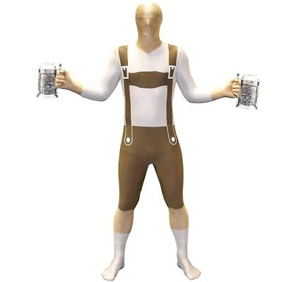 Licensed Morphsuit Lederhosen Oktoberfest Design Fancy Dress Bodysuit - Morphsuit Material