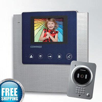 """COMMAX Video Door Phone 3.5"""" Color Handsfree CAV-35U + Door Camera DRC-41QC"""