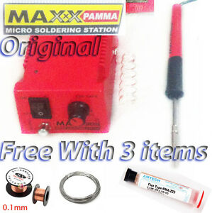 100 brand new original max pamma commercial micro soldering iron station smd available at ebay. Black Bedroom Furniture Sets. Home Design Ideas