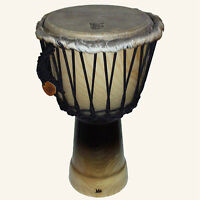 LuKa Djembe Drum 11 in. Rope Tuned Solid Shell
