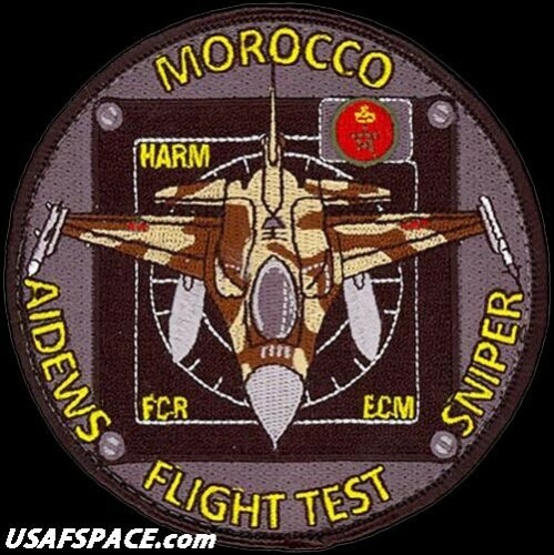 USAF 416th FLIGHT TEST SQ F-16 ADVANCED DEFENSIVE ELECTRONIC WARFARE SUITE PATCH