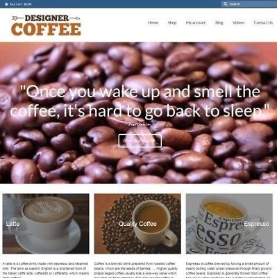 Coffee Website Business For Sale - 949.89 A Sale. Instant Traffic System