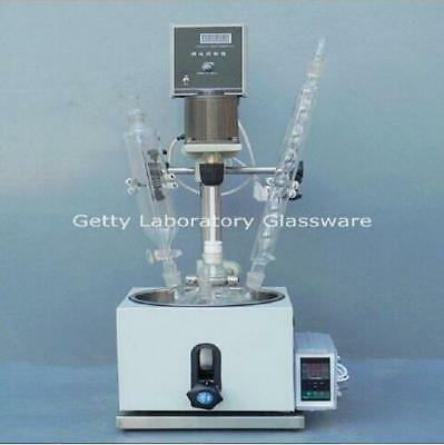 5l Single-deck Chemical Reactor Glass Chemistry Reacting Vessel With Water Bath