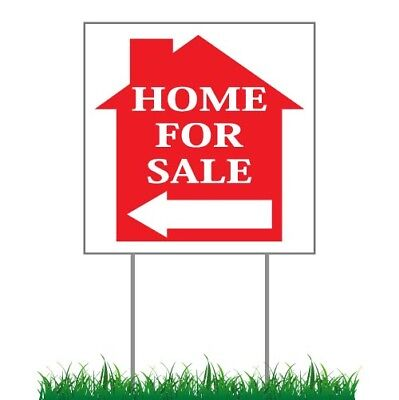 100x - Native FOR SALE Directional Signs Corrugated Plastic + FREE Stakes 100lot