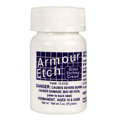 Armour Etch Glass Etching Cream   App  3 Oz Jar  Ships Today