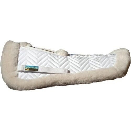 NEW Fleeceworks Sheepskin Half Pad with Traditional Wither Relief - Large