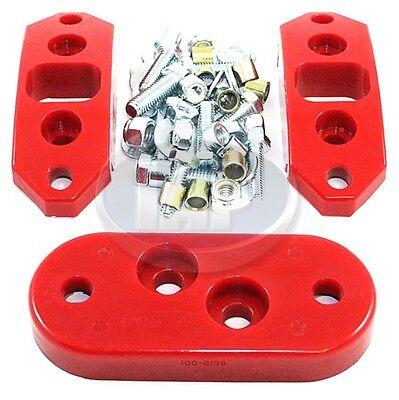 VW Urethane Red Motor Mount Kit. AC311124. Transmission Mount Kit. BUG GHIA