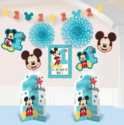 Mickey Birthday Decorations (1st Birthday Mickey Mouse Room Decorating Kit 10pc)