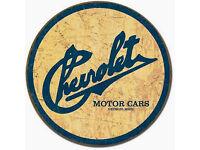 CHEVY Chevrolet Motors Parts classic Logo Vintage Auto Emblem Schild Poster *567