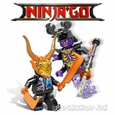NINJAGO - Oni MASK of DECEPTION v OVERLORD - fit lego (L14)