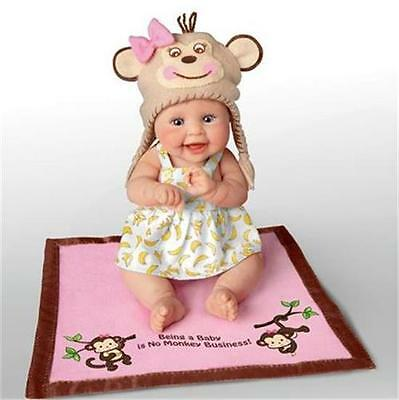 ASHTON DRAKE MONKEY BUSINESS Hats Off To You BABY Resin Doll NEW