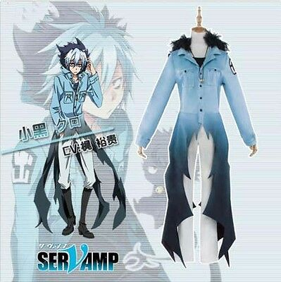 SERVAMP Kuro Cosplay Mahiru Shirot Sleepy Ash Black Cat Neko Costume Halloween (Neko Halloween Costumes)