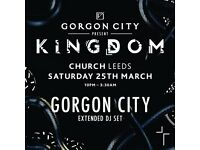 1 ticket to Gordon City Concert Leeds 25th of March