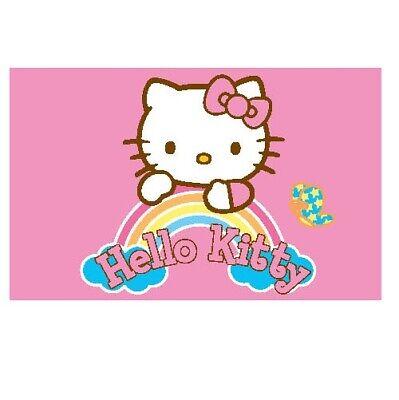 Sanrio Hello Kitty XL Teppich/Abtreter/Bettvorleger/Badematte/Matte NEU 80x50 cm