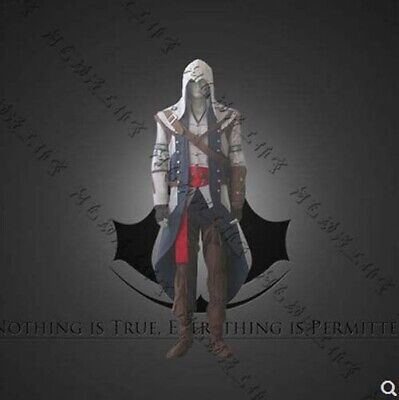 Assassin's Creed III Connor Cosplay Costume Halloween Mens full Outfit suits](Assassins Creed Halloween Costume)