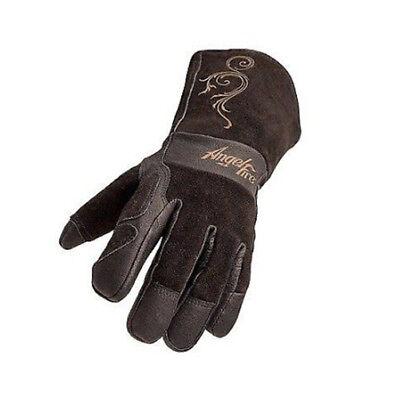Angelfire Stickmig Welding Gloves - Black With Beige Flourish Size Small