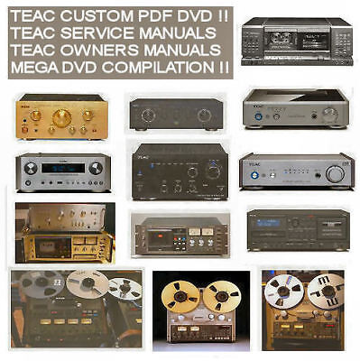 Teac Service Manuals Owners Manuals, Custom Compilation DVD
