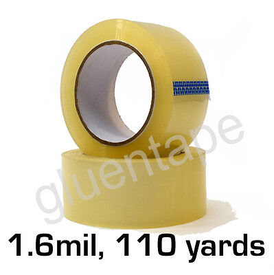 1.6 mil Clear Carton Sealing Packing Tape 2 inch 110 yards 330' (36 Rolls)