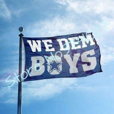 dallas cowboys flag with we dem boys home decoration fan flag