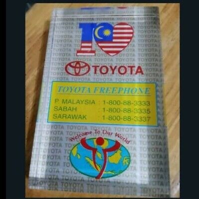 Paperweight I Love Toyota malaysia flag