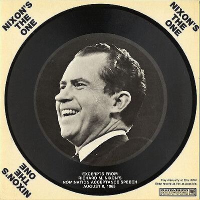 1968 Richard Nixon Audio Postcard ~ Nomination Speech Excerpts ~ Unused (4930) Nixon Audio
