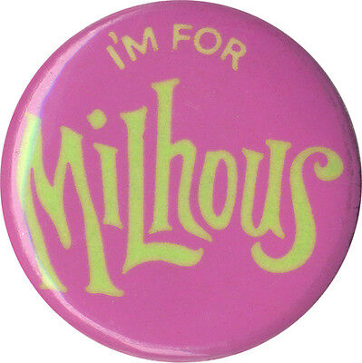 Psychedelic 1968 Campaign I'M FOR MILHOUS Richard Nixon Button (1042)