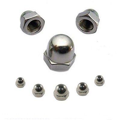 Hutmuttern 6 mm DIN 1587  M6  Edelstahl A2  25 Stk. ** Profi-Qualität **