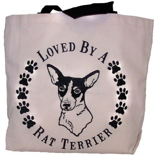Loved By A Rat Terrier Tote Bag New  MADE IN USA