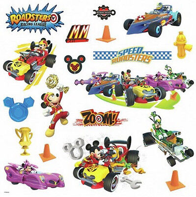 MICKEY MOUSE ROADSTERS RACERS wall stickers 19 decals race car Minnie room decor](Mickey Mouse Room Decor)