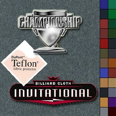 Championship Invitational 8' Pool Table Felt Cloth Choose Your (Championship Pool Table Felt)