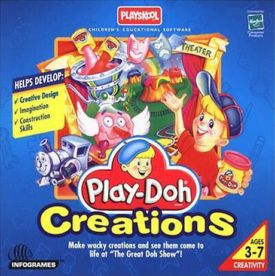 PLAY-DOH CREATIONS Playskool Playdoh Classic Vintage Children's PC Game NEW