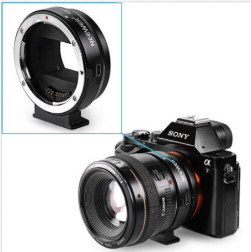 Metal Lens Mount Adapter for Canon EF/EF-S lens to Sony E-mount Cameras
