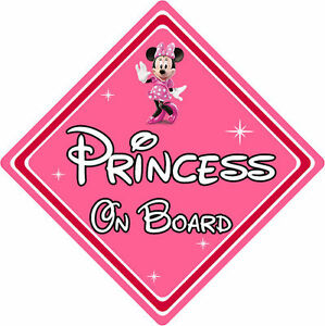 Disney Princess On Board Car Sign - Baby On Board Car Sign - Minnie Mouse