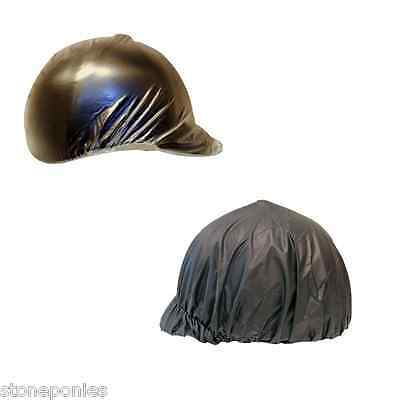 Vinyl Horse Riding Helmet Rain Cover - Choice of Black or Clear Vinyl Rain Cover