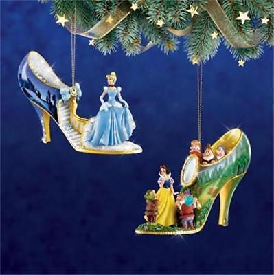 - DISNEY CINDERELLA & SNOW WHITE Once Upon A Slipper Ornament Collection #1 NEW