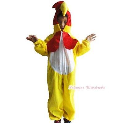 Cock Chicken Halloween Party Costume Kids Size S/M/L - Children's Chicken Costume