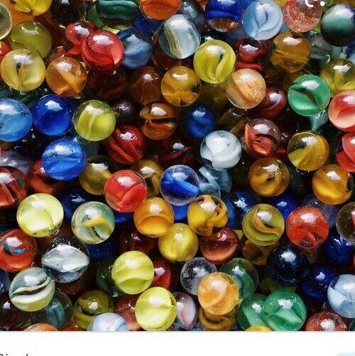 LOT of 40 Antique Vintage Marbles - Cats Eye - Transparent Swirls - Speckled