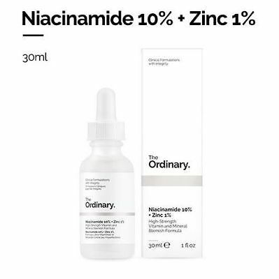 [The Ordinary]Niacinamide 10% + Zinc 1% 30ml High-strength vitamin and mineral Anti Aging Zinc Moisturizer
