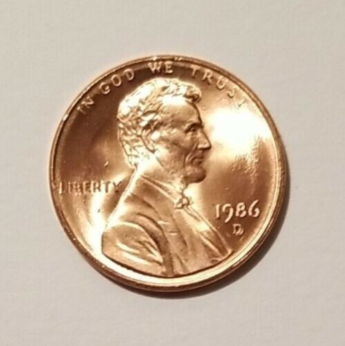 1986 D Lincoln Head Cent - $15.00