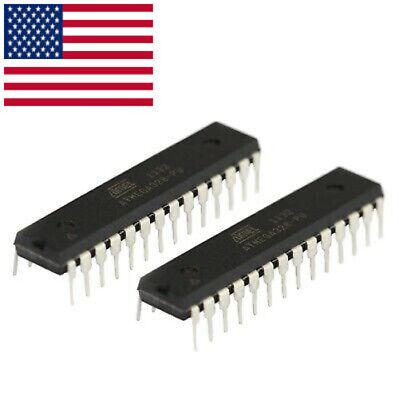 2pcs Atmega328p Dip-28 Microcontroller Ic Usa Seller