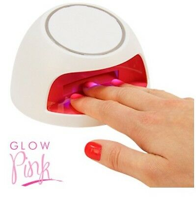 NEW GIRLS GLOW PINK UV NAIL VARNISH DRYER BATTERY POWER BEST