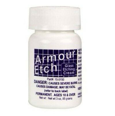 Armour Etch Glass Etching Cream   App  3 Oz Jar  Ships Today
