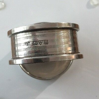 Two Antique Sterling Silver Napkin Ring,Robert Pringle & Sons CHESTER1908/12