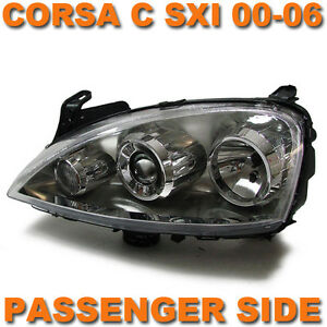 VAUXHALL-CORSA-C-SXI-03-06-HEADLAMP-HEADLIGHT-LEFT-N-S