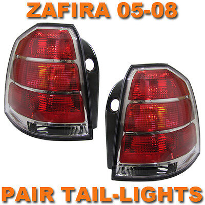 VAUXHALL ZAFIRA B 05-07 REAR BACK TAIL LIGHTS LAMPS PAIR LEFT & RIGHT NEW