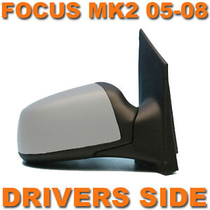 FORD FOCUS MK2 2005-2008 PRIMED ELECTRIC DOOR WING MIRROR DRIVERS SIDE O/S