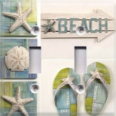 Summer Themed Decorations (Beach Sandals Themed Light Switch Cover Choose Your Cover Summer Beach)
