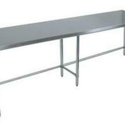 Bk Resources Vttob-9630 96wx30d Economy Stainless Steel Open Base Work Table