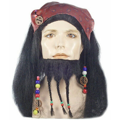 Captain Jack Sparrow Wig And Beard Pirates of The Caribbean Costume - Captain Jack Sparrow Wig